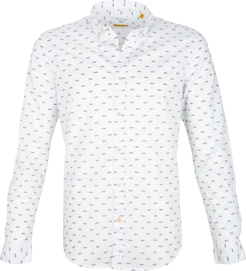 New In Town Shirt White Pattern photo 0