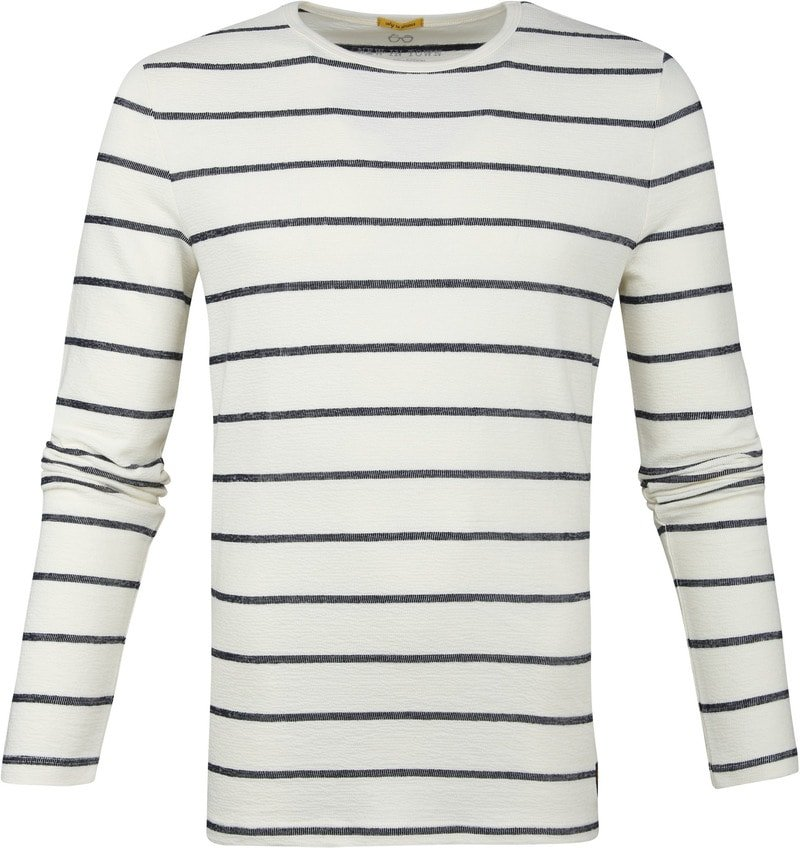 New In Town Striped Pullover White photo 0