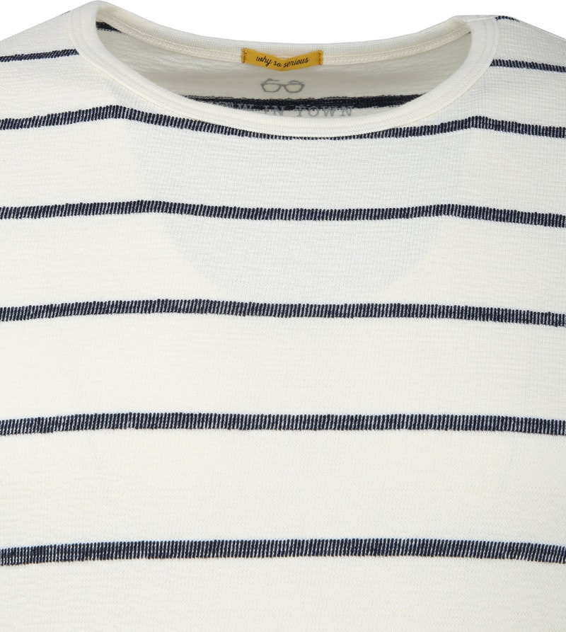 New In Town Striped Pullover White photo 1