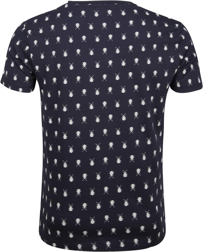 New In Town T-Shirt Navy Insecten foto 3