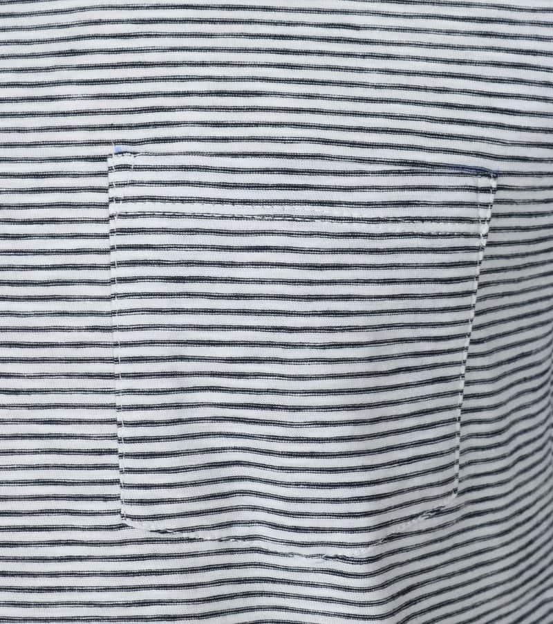 Detail New in Town T-shirt Zwart Wit Streep