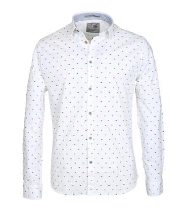 No-Excess Casual Overhemd Print Wit  online bestellen | Suitable