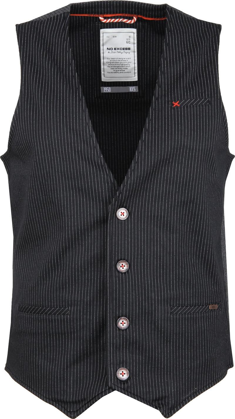 No-Excess Gilet Jersey Stripe Zwart foto 0