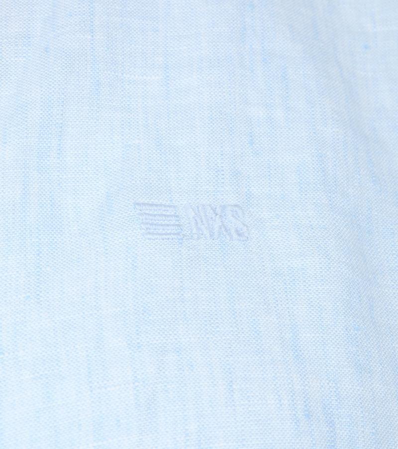 No-Excess Linen Shirt Light Blue
