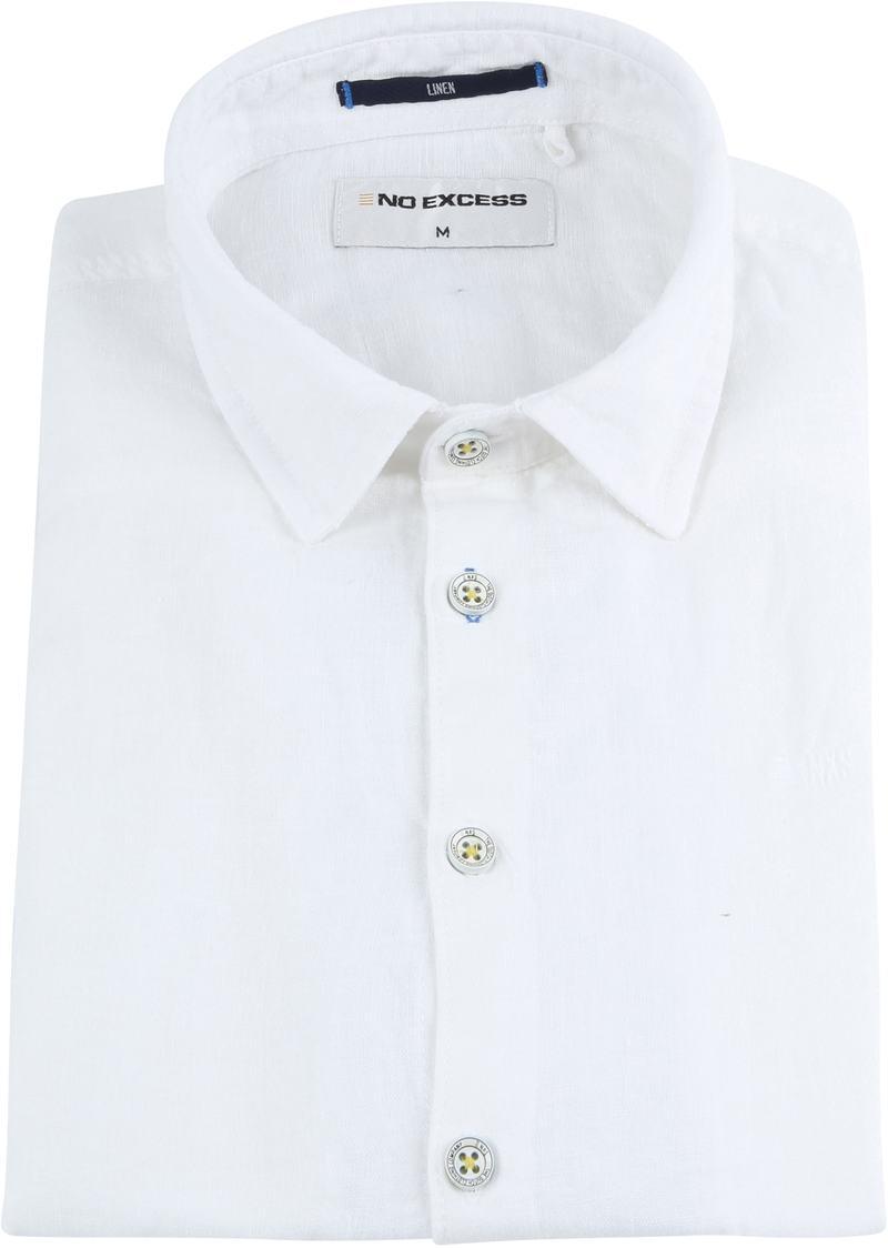 No-Excess Linen Shirt Uni White photo 2