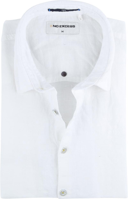 No-Excess Linen Shirt Uni White photo 0