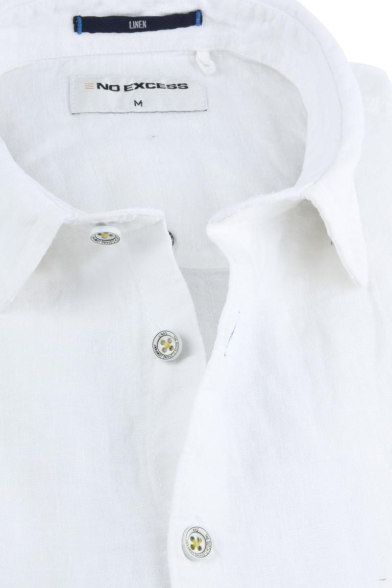 No-Excess Linen Shirt Uni White photo 1