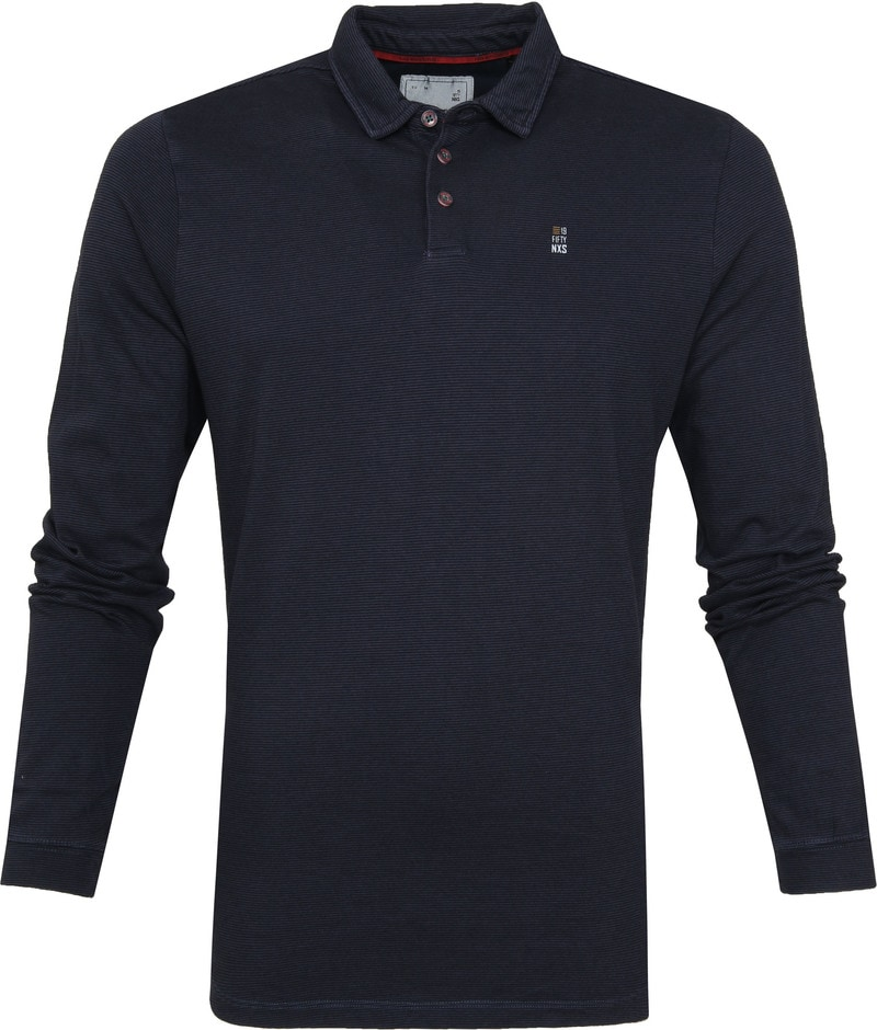 No Excess LS Poloshirt Navy photo 0