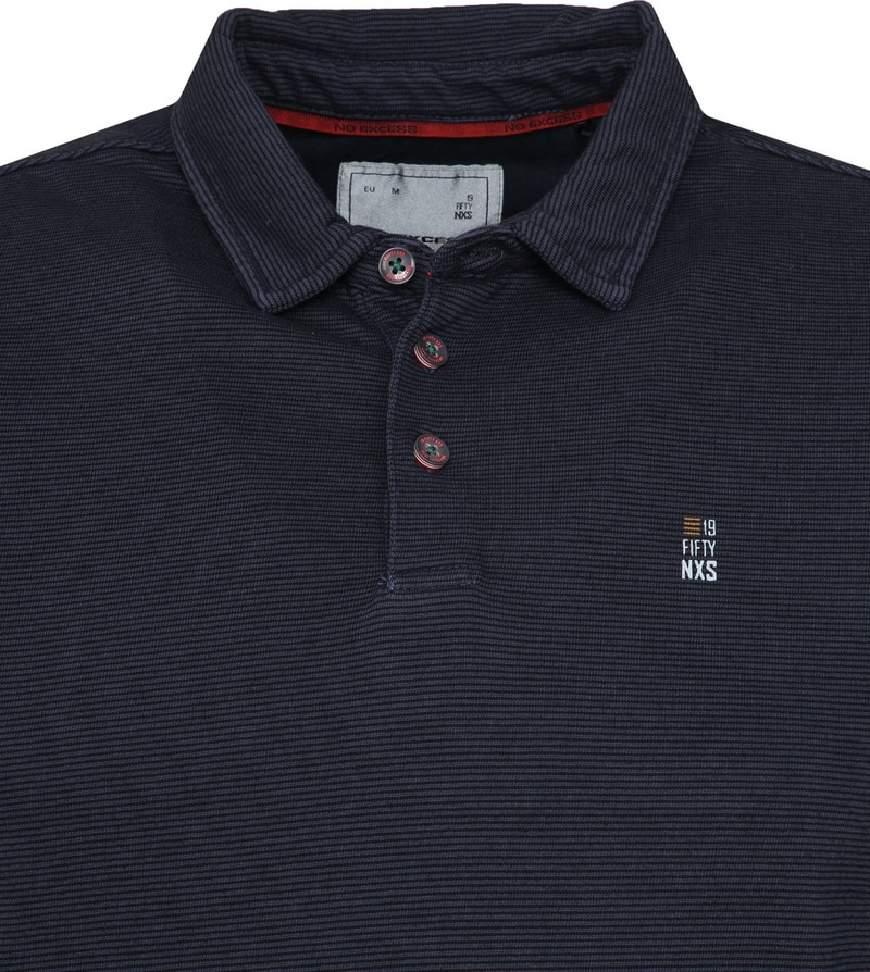 No Excess LS Poloshirt Navy photo 1