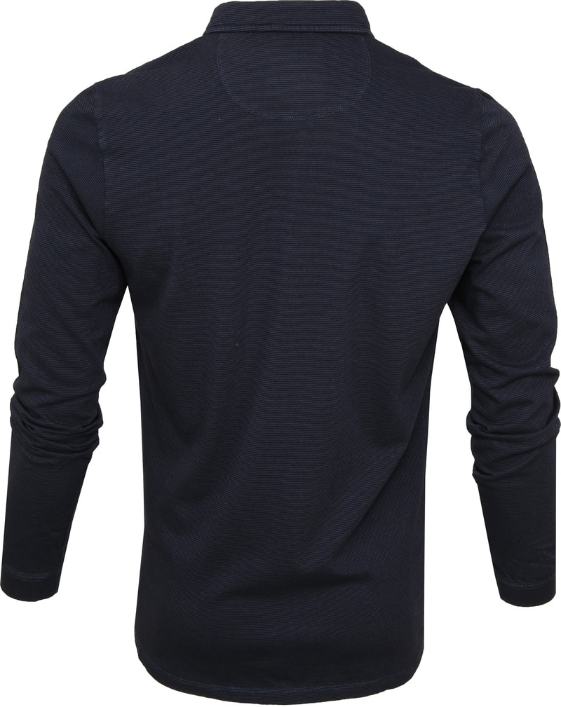No Excess LS Poloshirt Navy photo 3