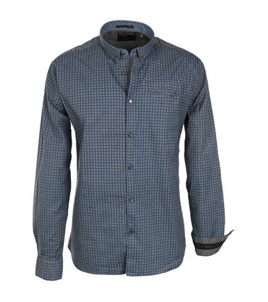 No-Excess Overhemd Blauw Print Allover  online bestellen | Suitable