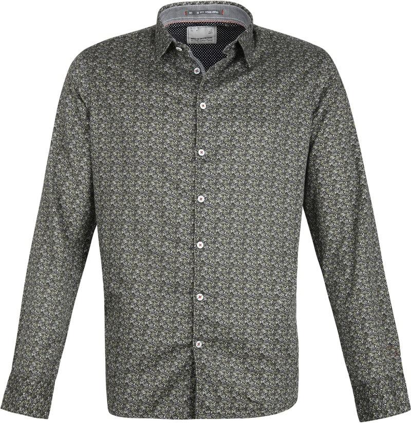 No-Excess Overhemd Dessin Donkergroen foto 0