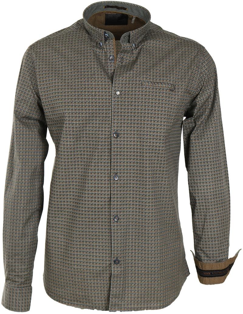 No-Excess Overhemd Groen Print Allover  online bestellen   Suitable