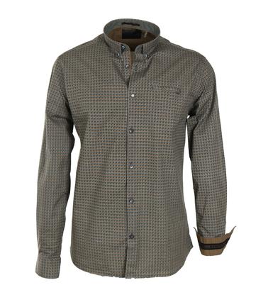 No-Excess Overhemd Groen Print Allover  online bestellen | Suitable