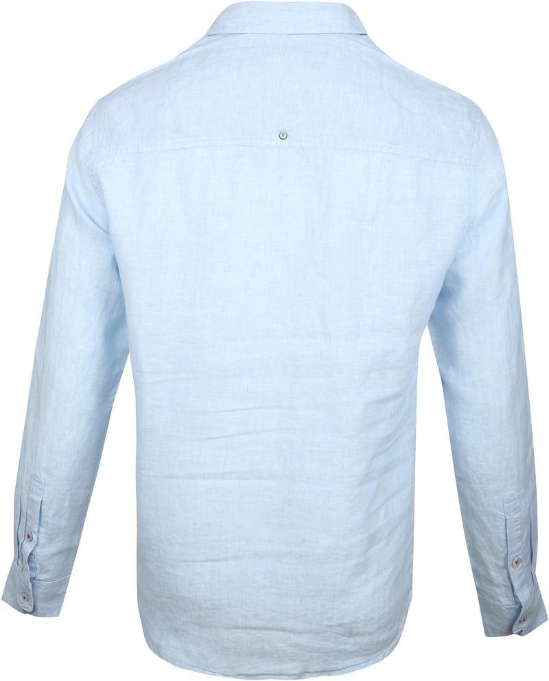 No-Excess Overhemd Linnen Lichtblauw - Blauw maat XXL