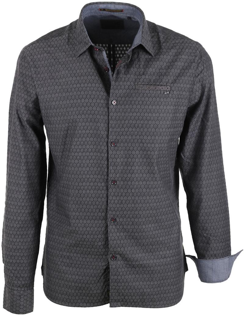 No-Excess Overhemd Print Antraciet  online bestellen | Suitable