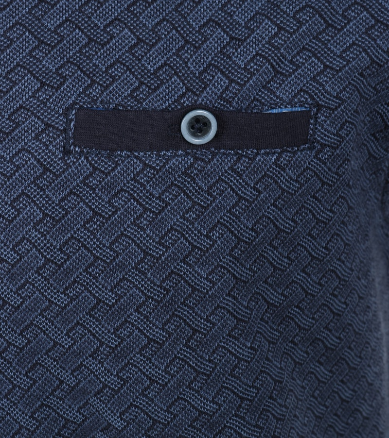 Detail No-Excess Polo Dessin Navy