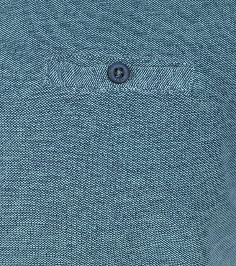 Detail No-Excess Polo Jacquard Groen