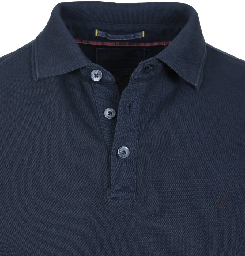 Detail No-Excess Polo Pique Navy