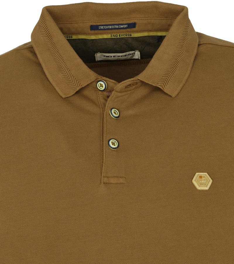 No-Excess Polo Stone Washed Olijfgroen