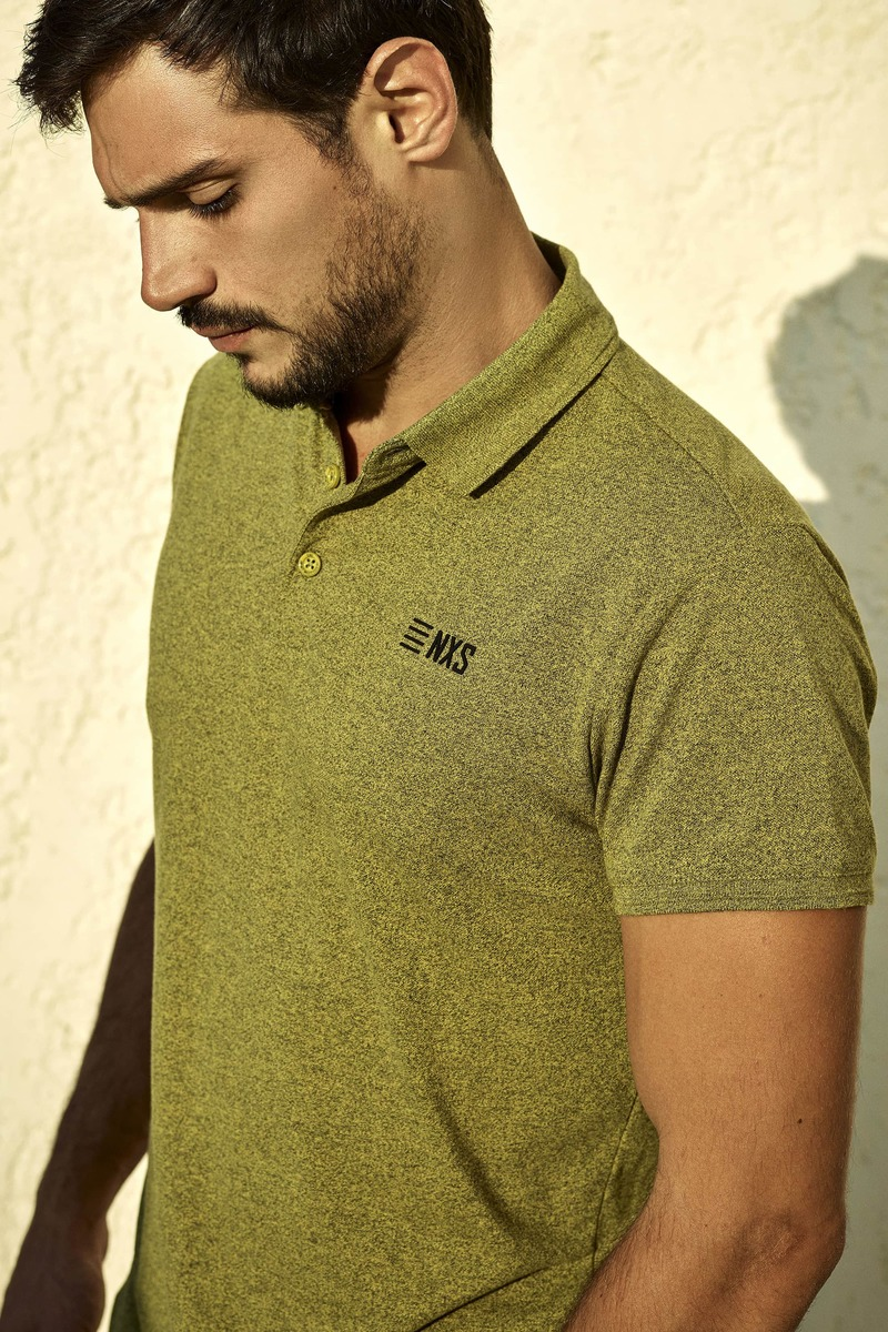 No-Excess Poloshirt Lime Green photo 4