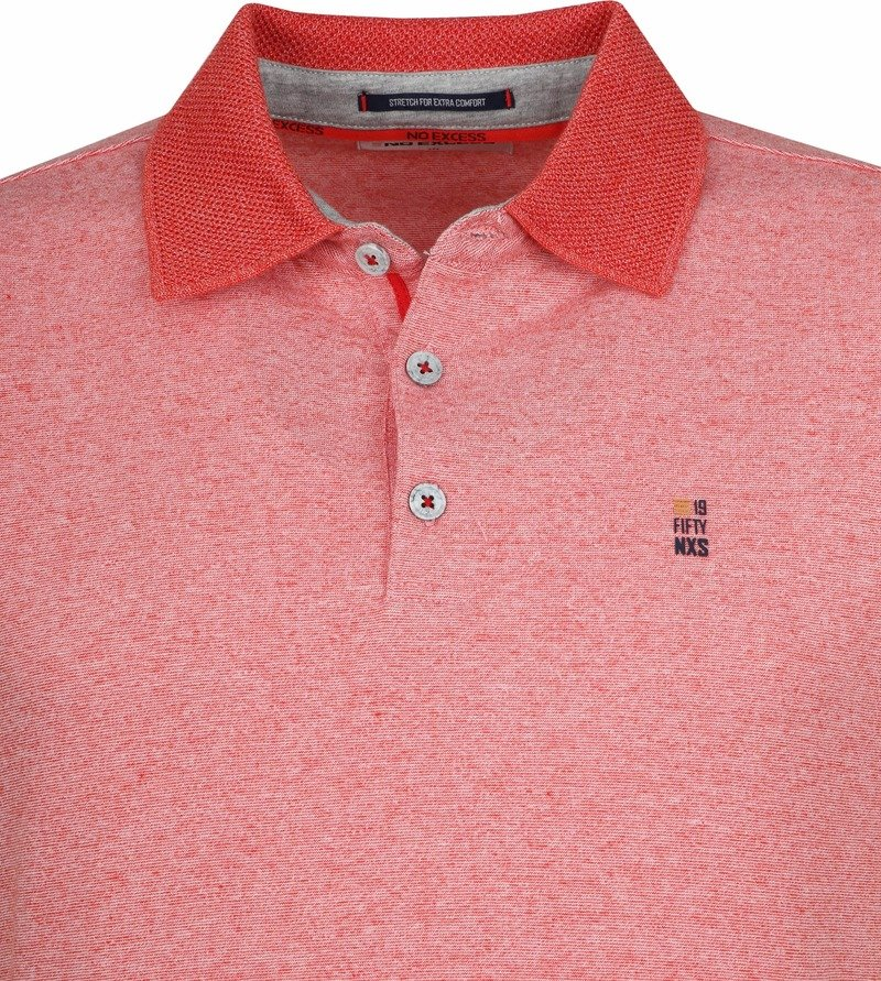 No-Excess Poloshirt Rood foto 1