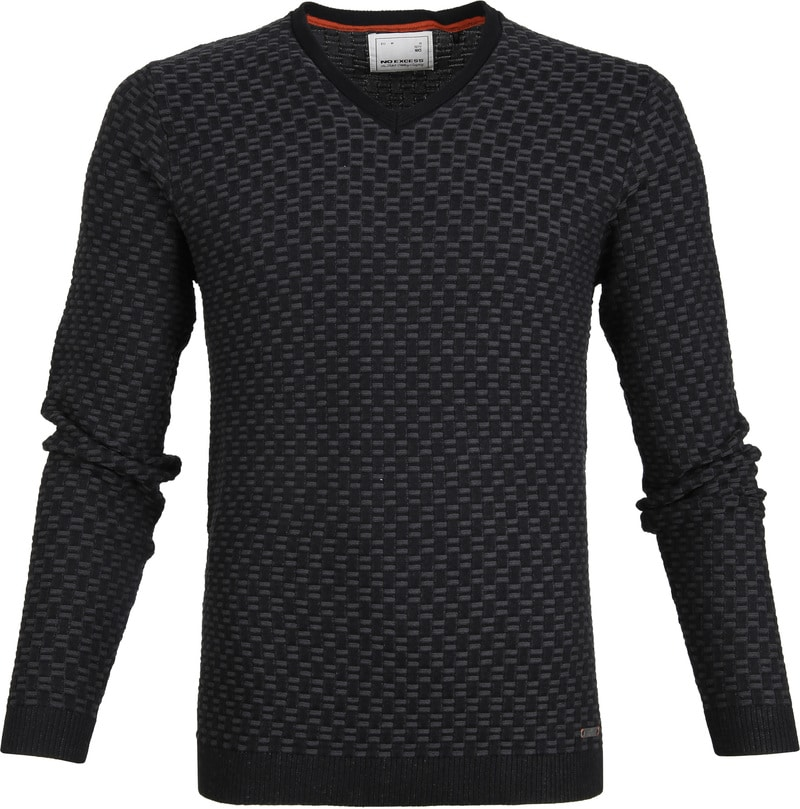 No-Excess Pullover Jacquard Antraciet foto 0