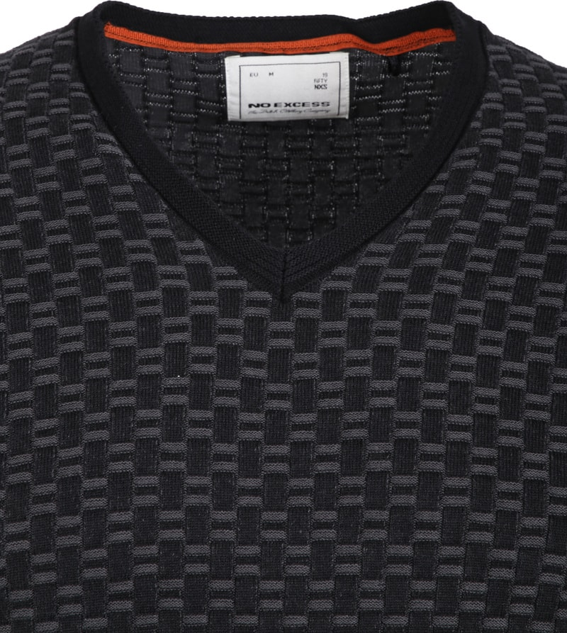No-Excess Pullover Jacquard Antraciet foto 1