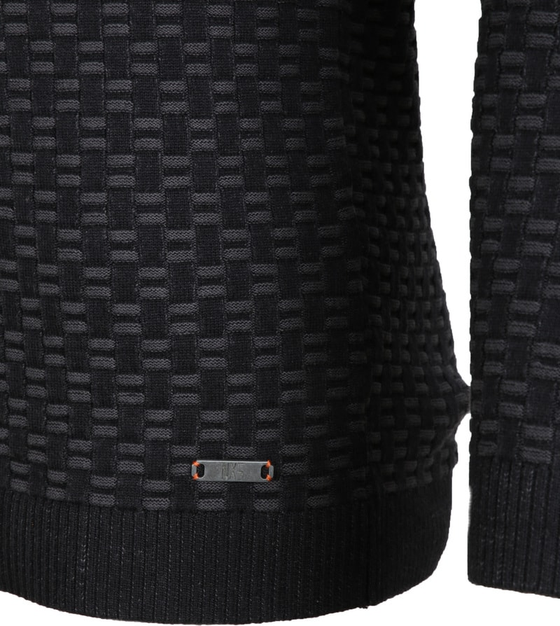 No-Excess Pullover Jacquard Antraciet foto 3