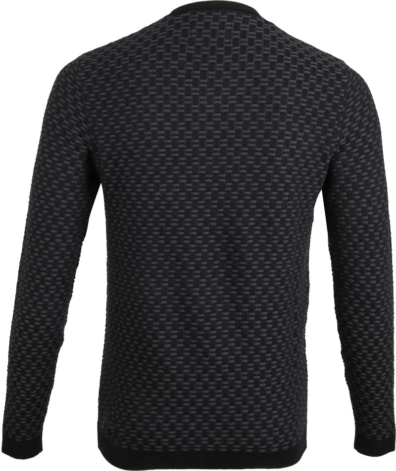 No-Excess Pullover Jacquard Antraciet foto 4