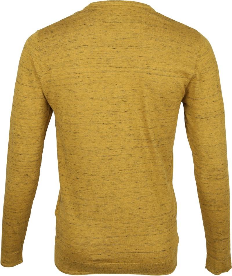 No-Excess Pullover Melange Zwart Geel - Goud maat XXL