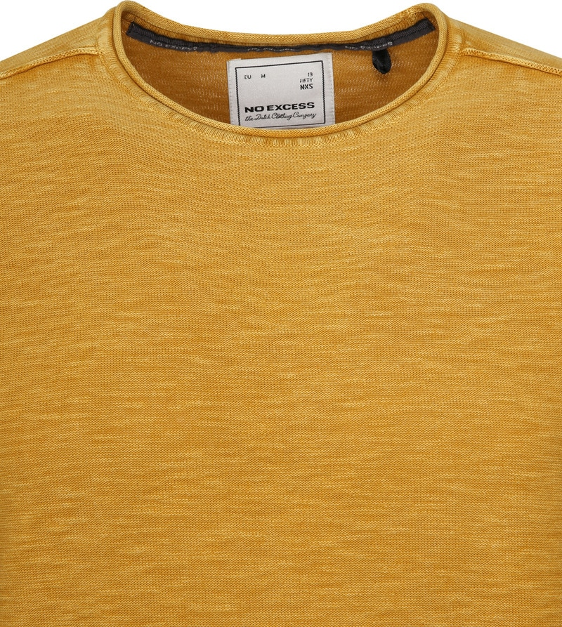 No-Excess Pullover Ocre Geel foto 1