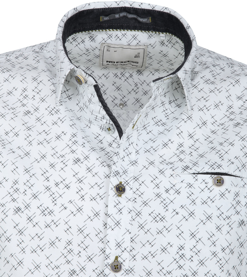 No-Excess Shirt Print Design White photo 1