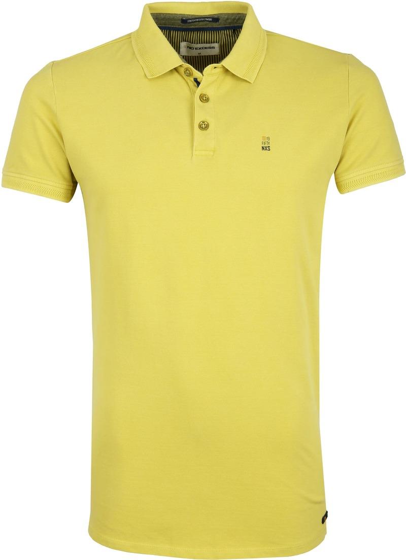 No-Excess Stretch Poloshirt Lime