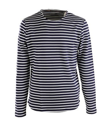 Tagesangebot Herrenmode: No-Excess Sweater Dunkelblau Streifen  online kaufen | Suitable