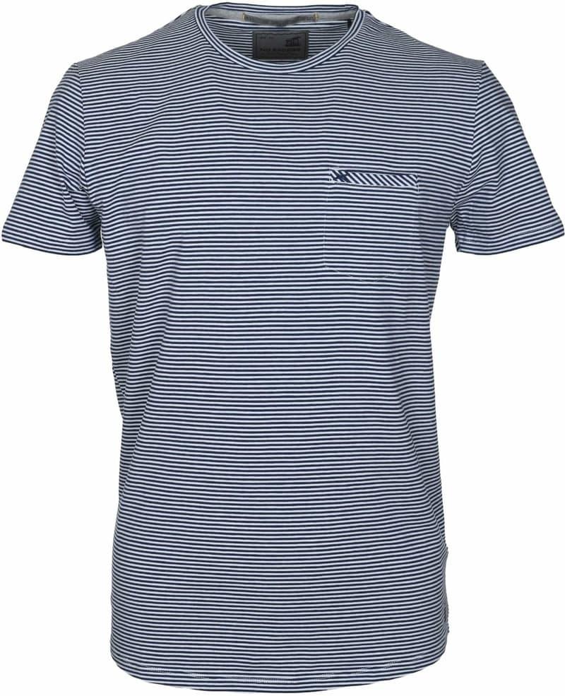 No-Excess T-shirt Dunkelblau Streifen  online kaufen   Suitable