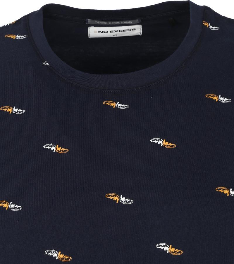 No-Excess T-Shirt Garnalen Donkerblauw - Donkerblauw maat M