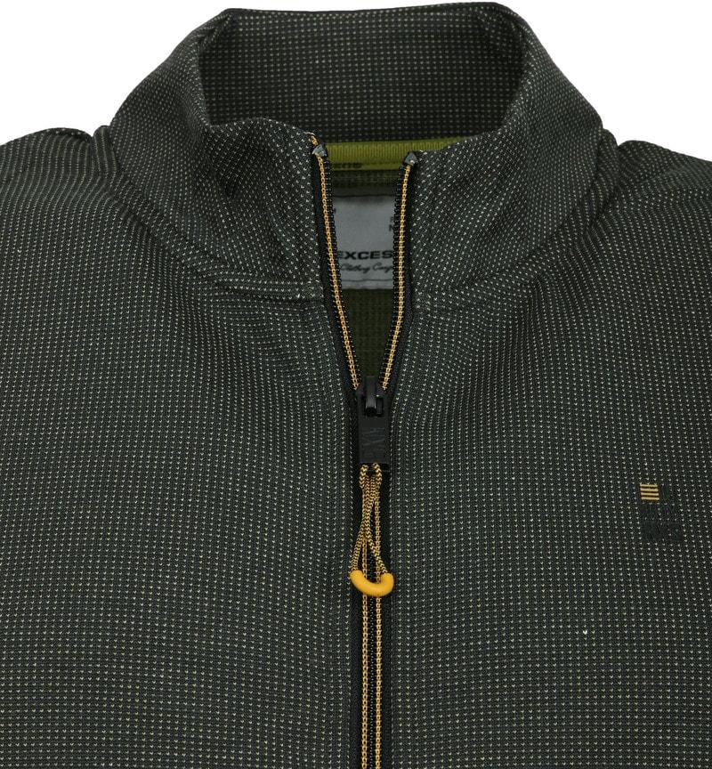 No-Excess Vest Zip Donkergroen foto 1