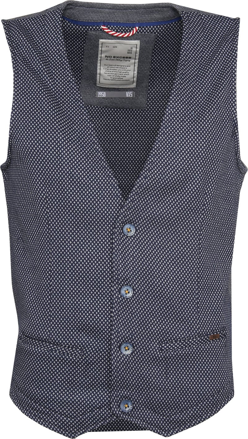 No-Excess Waistcoat Dyed Jacquard photo 0