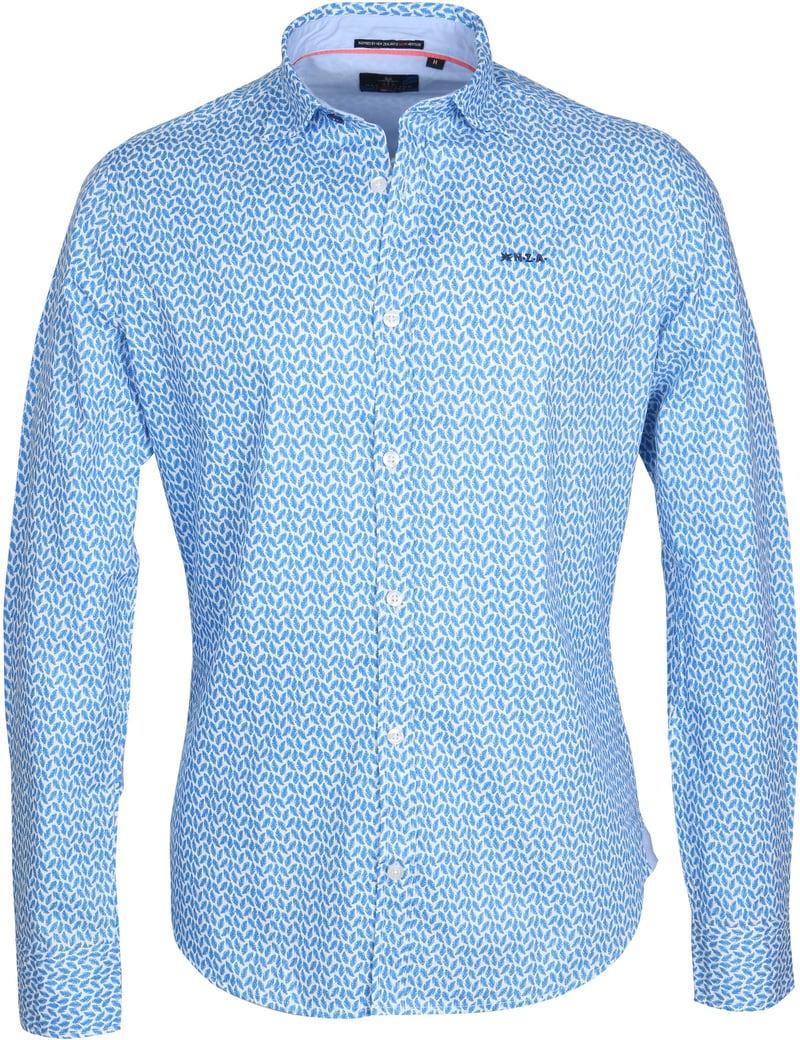 NZA Hemd Jasper Blau drucken  online kaufen | Suitable