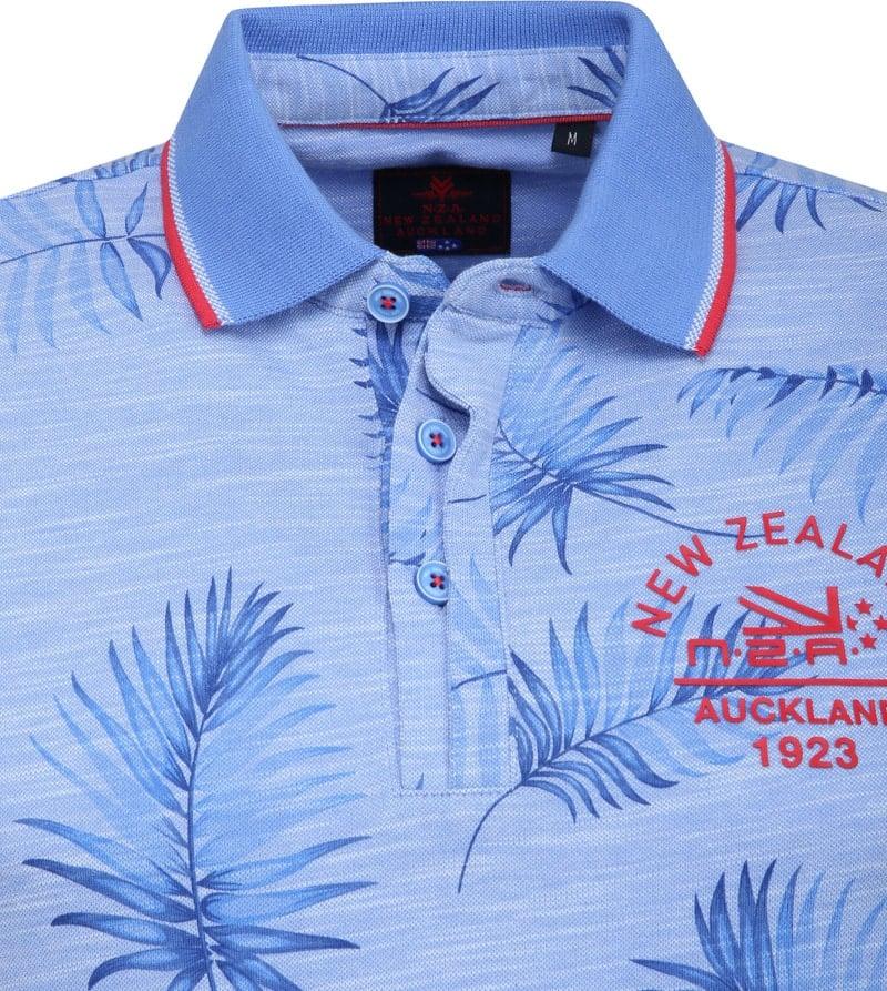 NZA Kaihu Poloshirt Print Blue photo 1