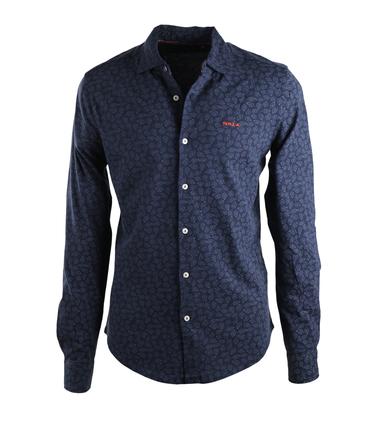 NZA Overhemd Donkerblauw Print 17GN592  online bestellen   Suitable