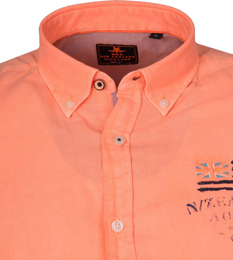 NZA Overhemd Rakaia Neon Oranje foto 1