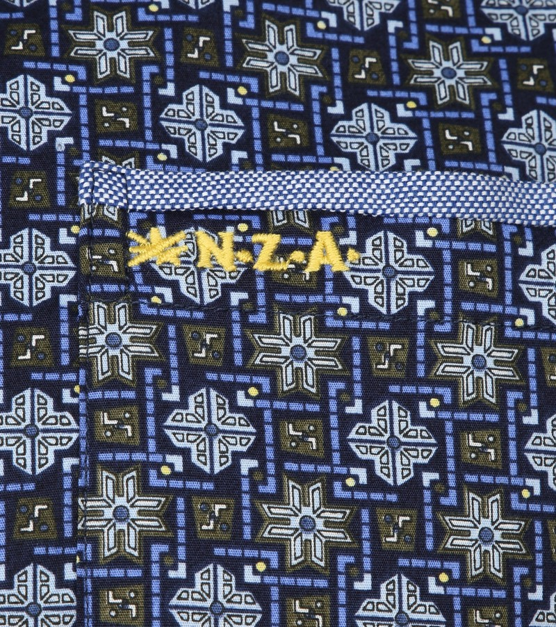 NZA Overhemd Rangiora Print Navy foto 2