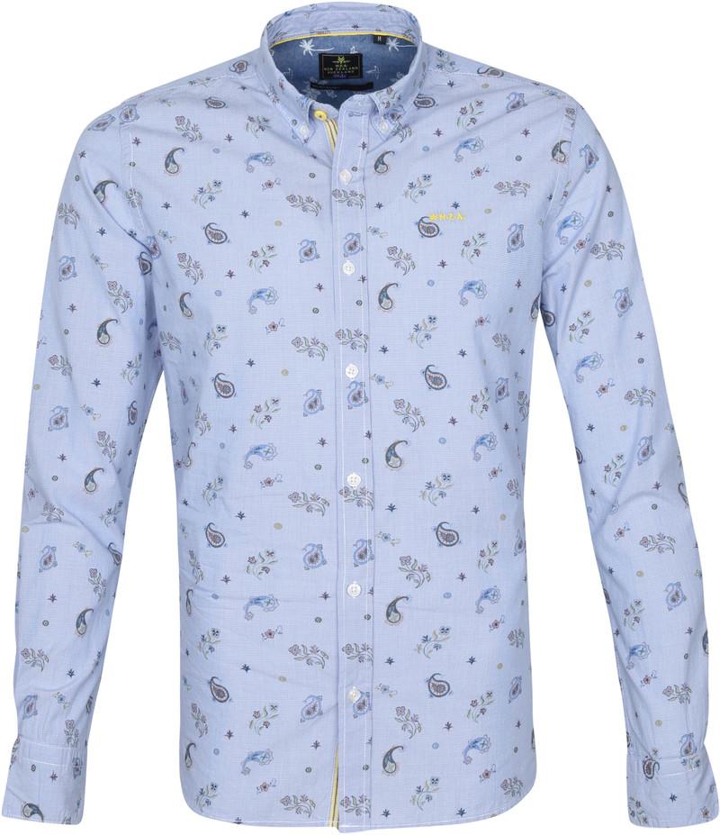NZA Overhemd Scott Pond Lichtblauw - Blauw maat XXL