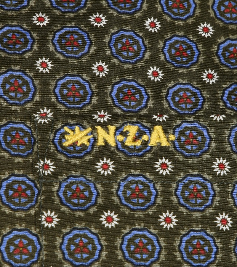 NZA Overhemd Taihiki Print Donkergroen foto 2