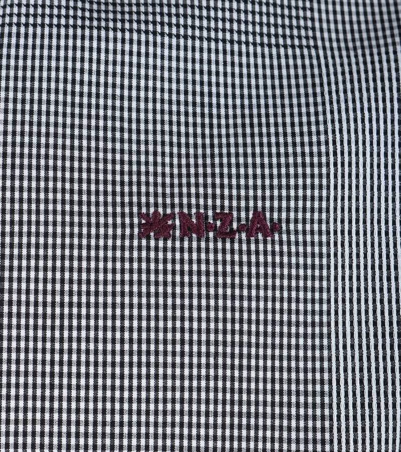 Detail NZA Overhemd Zwart Wit Ruit