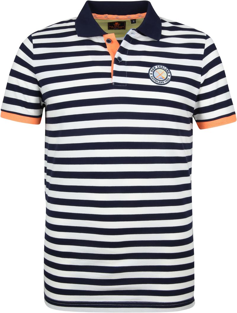 NZA Poloshirt Castor Stripes Navy photo 0