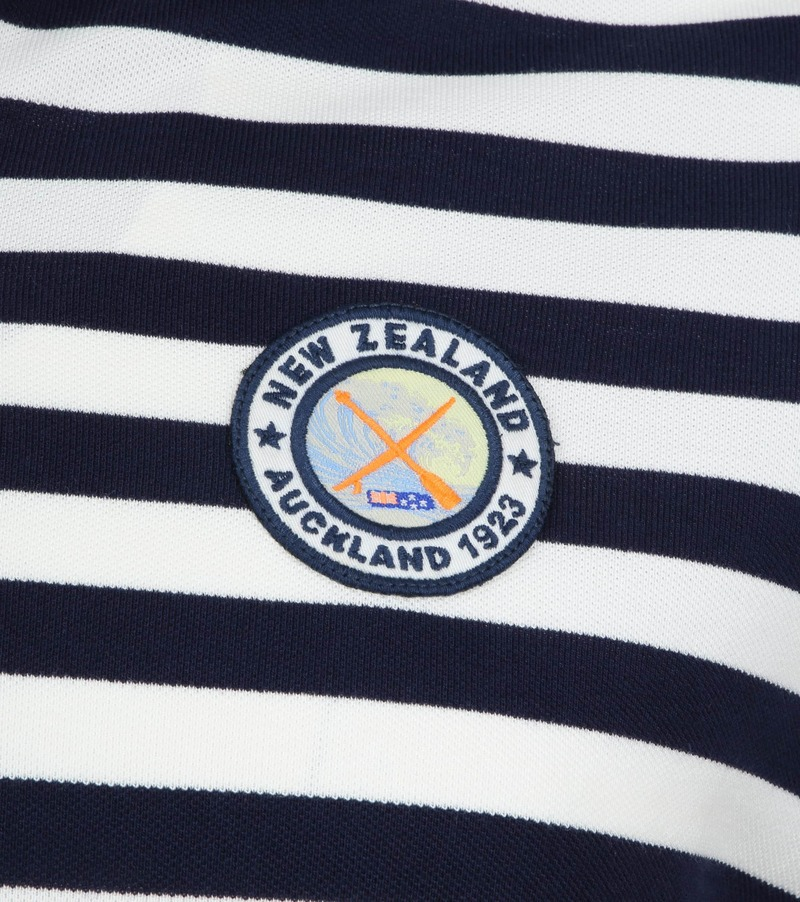 NZA Poloshirt Castor Stripes Navy photo 2