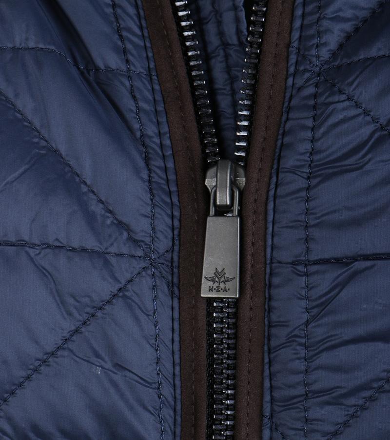 Detail NZA Winterjas Donkerblauw 16HN802